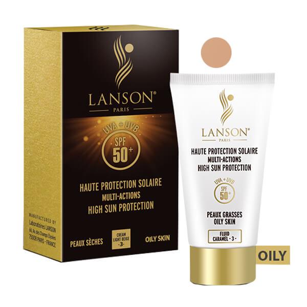 ضد آفتاب پوست چرب کارامل لانسون Lanson