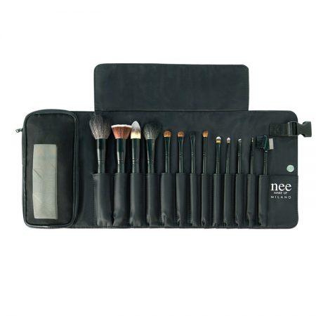 کیف لوازم آرایش قلم موهای حرفه ای همراه با قلم ها