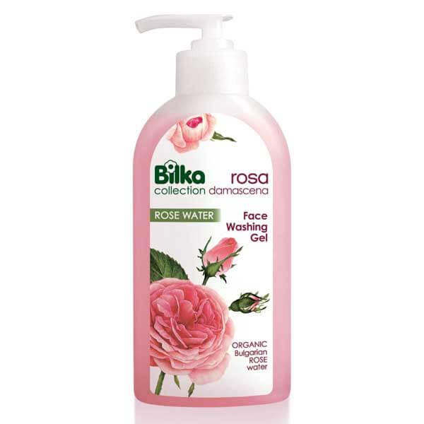 ژل پاک کننده صورت گل رز بیلکا